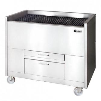 Churrasqueiras a carvão vegetal estáticas ou ventiladas