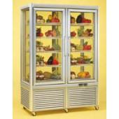 Expositor frigorifico duplo para bolos com prateleiras fixas