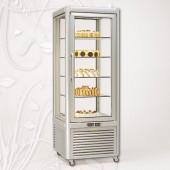 Expositor frigorifico simples para bolos com prateleiras fixas em vidro