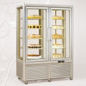 Expositor frigorifico duplo para bolos misto