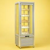 Expositor frigorifico simples para bolos com prateleiras rotativas